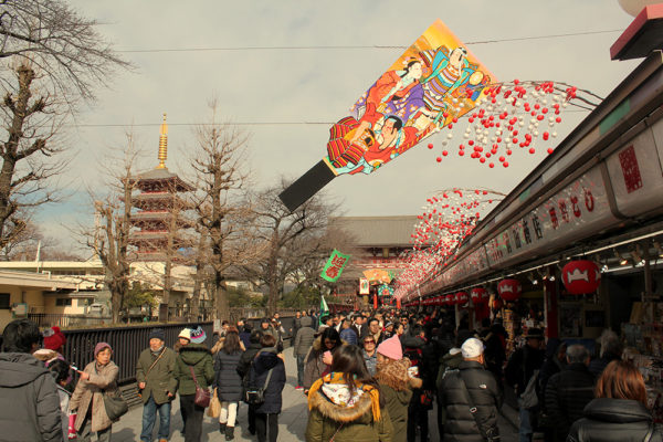 The street approaching the temple is lined with craft and souvenir shops.