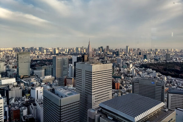 A great view of Tokyo from the viewing platform on the 45th floor.
