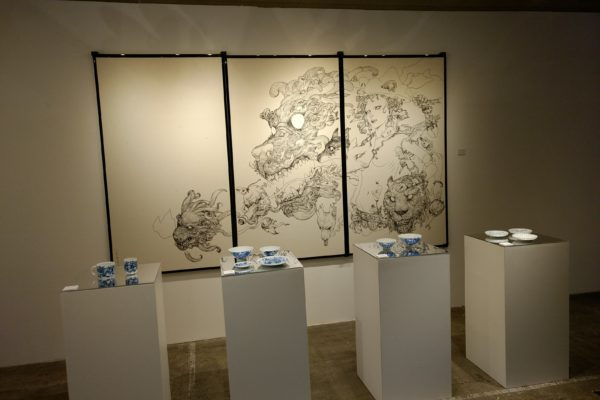 An exhibition we visited in a tiny gallery in the Nakano neighbourhood.